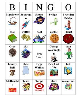Common Noun and Proper Noun Bingo by A teacher's dream | TpT