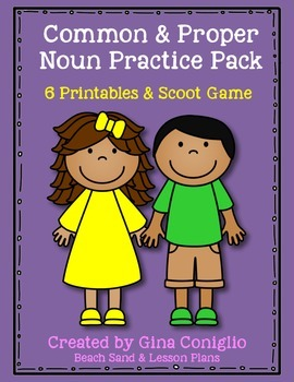 Common Noun and Proper Noun Practice Pack
