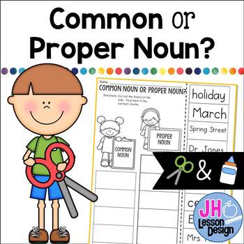 Common Noun or Proper Noun? Cut and Paste Sorting Activity