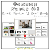 "Common Nouns #1 Vocabulary Real Photo ""I See"" Book for Special Education"