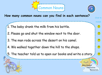 Interactive Common Nouns Activity for IWB