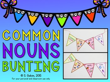Common Nouns Bunting Craftivity
