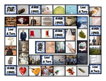 Common Nouns Fifth Grade Board Game