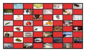 Common Nouns Fifth Grade Checkerboard Game