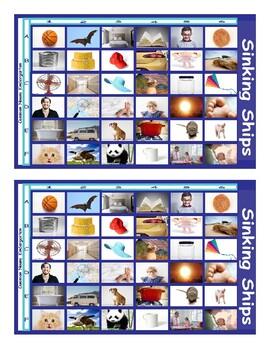 Common Nouns Kindergarten Battleship Game