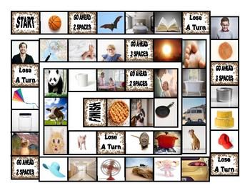 Common Nouns Kindergarten Board Game