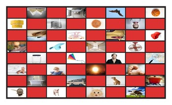 Common Nouns Kindergarten Checkerboard Game