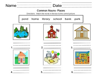 Common Nouns-  People, places and things