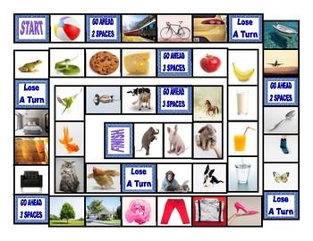 Common Nouns Pre-Kindergarten Board Game
