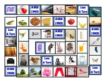 Common Nouns Pre-Kindergarten Board Game