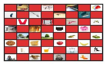 Common Nouns Pre-Kindergarten Checkerboard Game