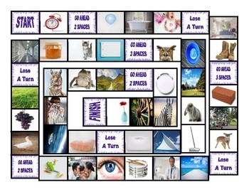 Common Nouns Second Grade Board Game