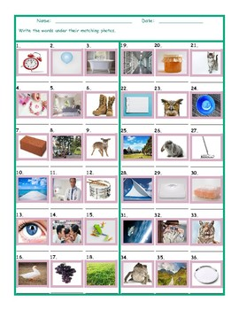 Common Nouns Second Grade Worksheet