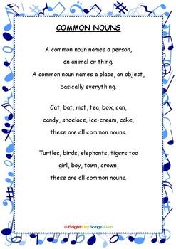Common Nouns Song Lyrics