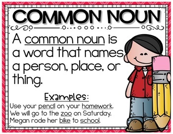 Common Nouns Task Cards Set and Extra Practice