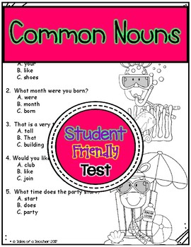 Common Nouns Test