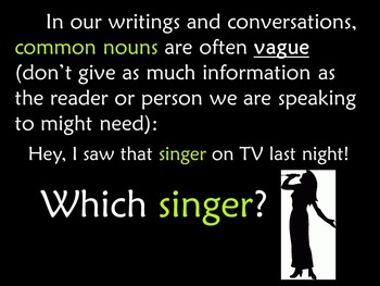 Common Nouns and Proper Nouns PowerPoint