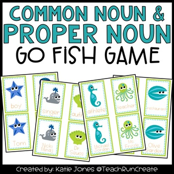 Common Nouns and Proper Nouns Go Fish game