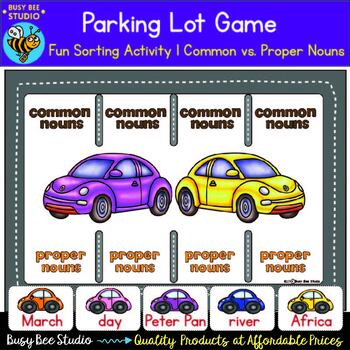 Common Nouns and Proper Nouns Sorting Activity