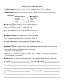 Nouns: Common Nouns and Proper Nouns Worksheet and Key