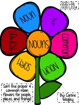 Common Nouns vs. Proper Noun Sort - CCSS Language