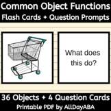 Common Objects - Function Cards with Question Prompts - AB
