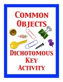 Common Objects Dichotomous Key Activity, Creating a Dichot