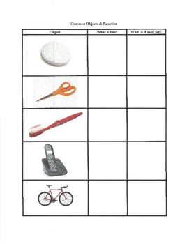 Common Objects & Function / Nouns & Action Verbs