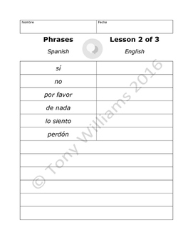Duolingo Spanish Phrases Lessons 4-6