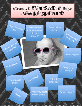 Common Phrases Shakespeare Poster