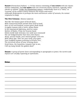 Common Poetry Definitions and Examples