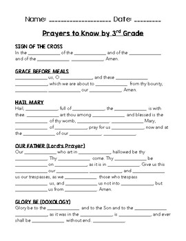 Common Prayers - Quizzes