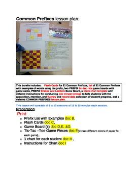 Prefixes BUNDLE Flash Cards, Tic Tac Toe, Snakes & Ladders