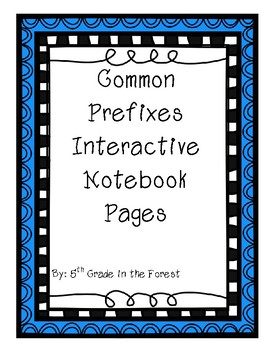 Common Prefixes Interactive Notebook Pages