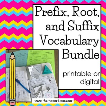Prefixes, Roots, and Suffixes Vocabulary Bundle