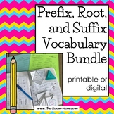 Prefixes, Roots, and Suffixes Vocabulary Bundle with distance learning option
