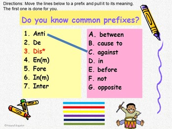 Prefixes and Suffixes PowerPoint