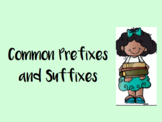 Common Prefixes and Suffixes Powerpoint