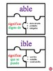 Common Suffixes in Spanish