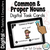 Common & Proper Noun Activities: First Grade Digital Task