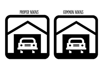 """Common Proper Noun Center Sort Cars Theme """"Park the Cars"""" Activity"""