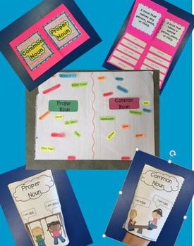 Common & Proper Noun Foldable and Activites