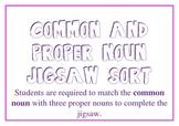 Common & Proper Noun Jigsaw *24 4piece Puzzles*