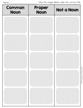 Common and Proper Nouns Worksheet Sort