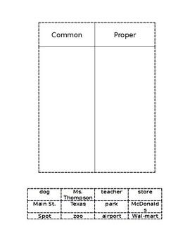 Common/Proper Noun Sort