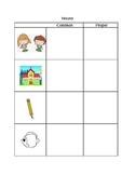Common & Proper Noun Student Anchor Chart & Practice