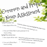 Common & Proper Noun Worksheets