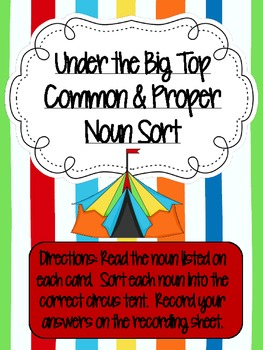 Common & Proper Nouns Center