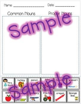 Common & Proper Nouns - Cut and Paste