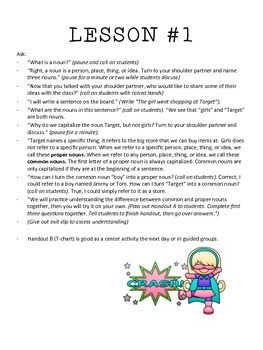 Common & Proper Nouns Lesson, Worksheets, Exit Slips, and Quiz